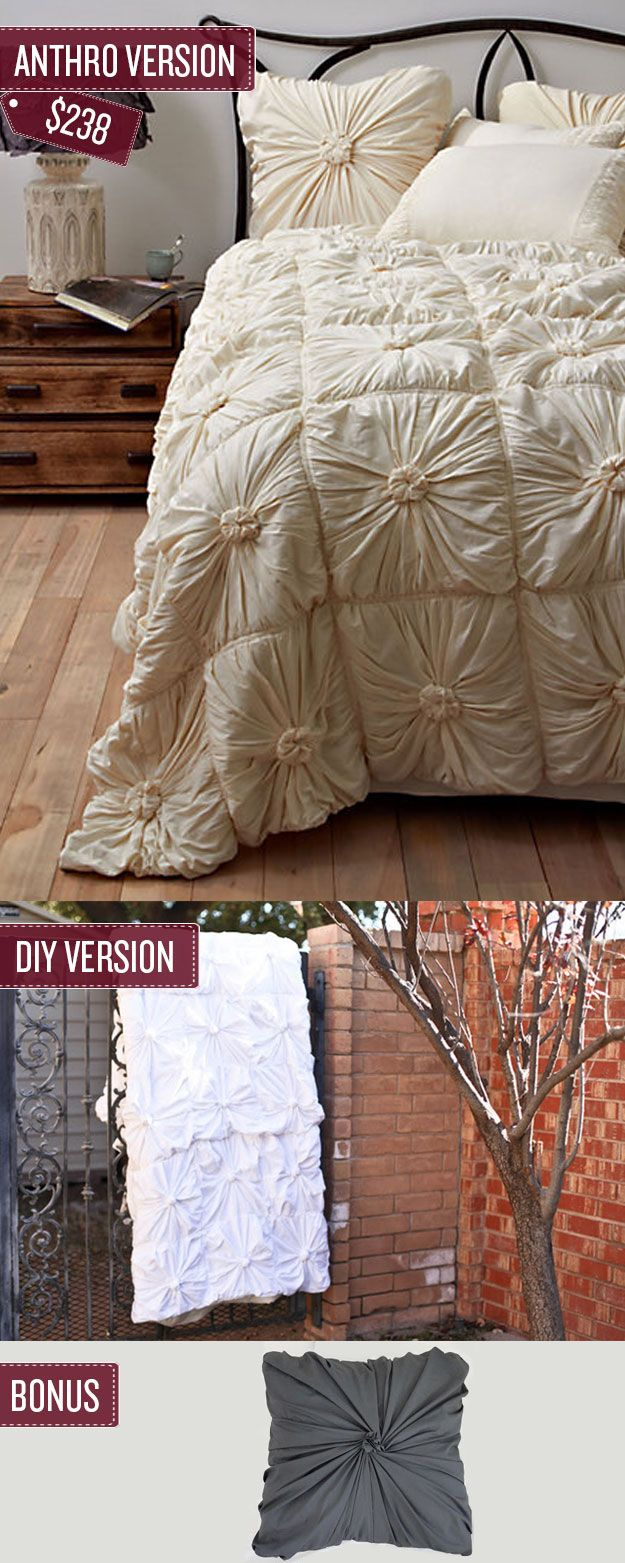Sew a quilted bedspread. I'm so happy and excited to find a bedspread like this! I've been envisioning something but I couldn't figure it out or find anything I liked in stores.