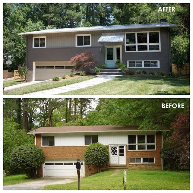 27 best images about curb appeal on pinterest craftsman for Split level remodel before and after