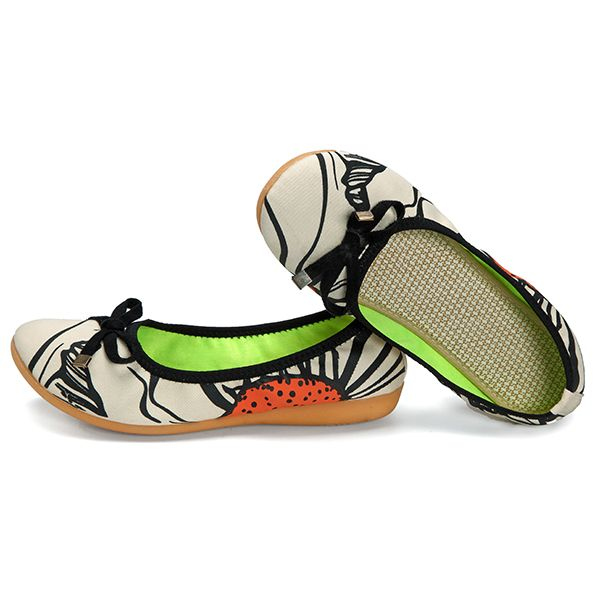 Soft Sole Slip On Casual Foldable Ballet Shoes