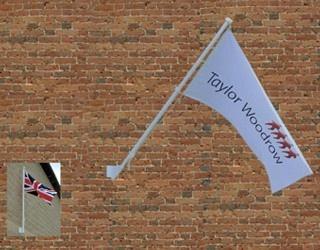 Angled Wall Mounted Flag Pole
