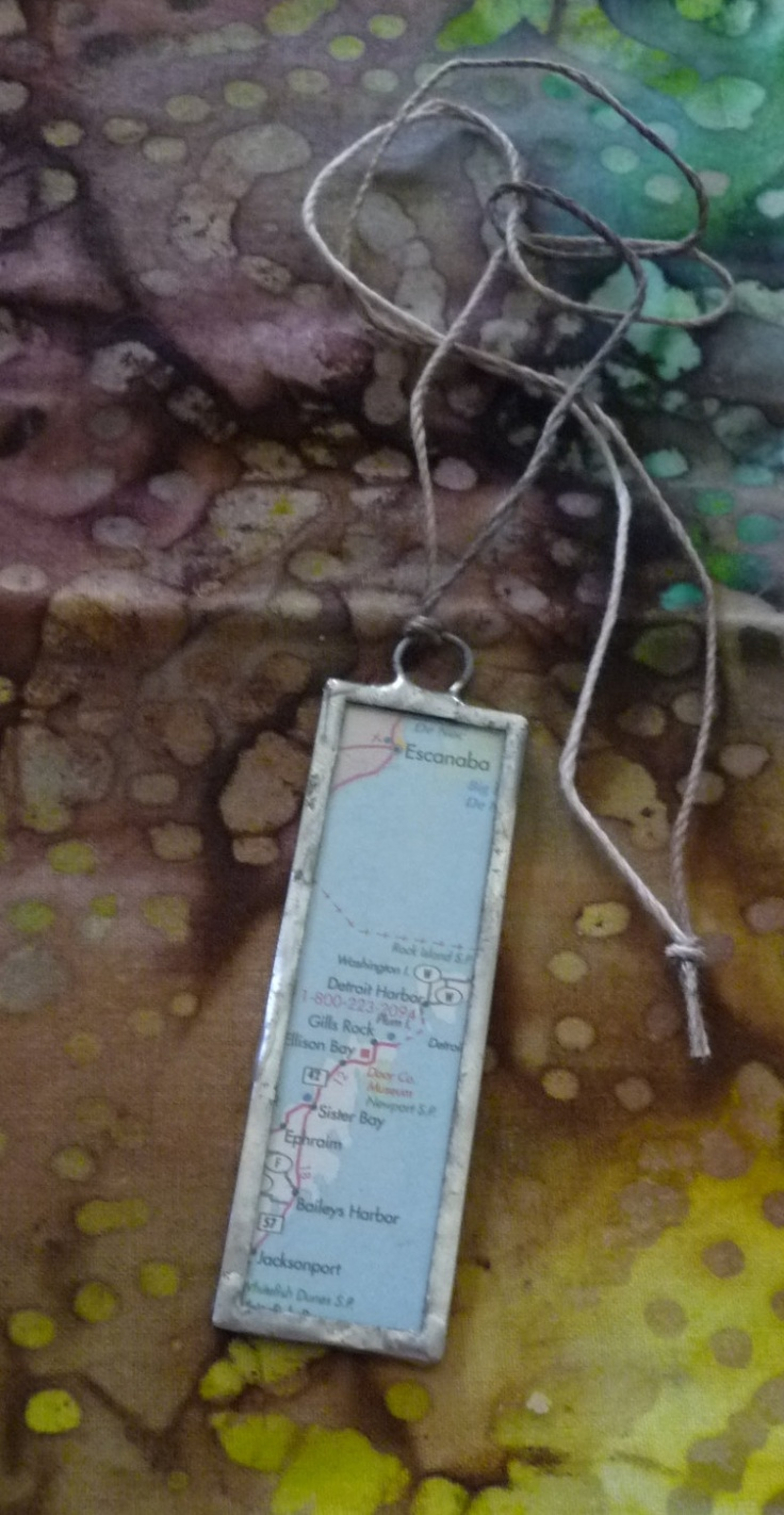 Apostle islands lake superior wisconsin usa map vintage