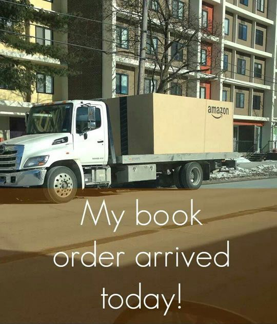 Sometimes I think this is true.. although with me, it's not just books. I buy EVERY thing on Amazon!!