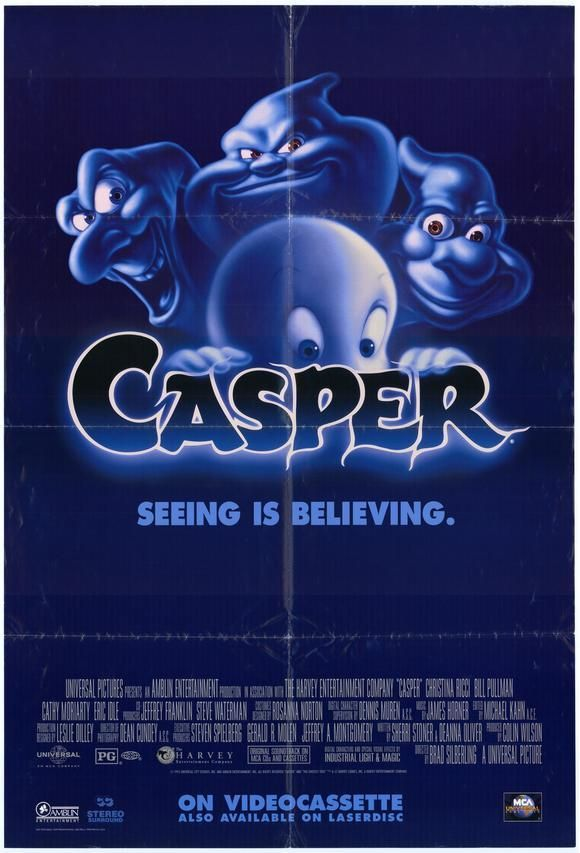 Casper (1995) - A paranormal expert and his daughter bunk in an abandoned house populated by 3 mischievous ghosts and one friendly one. Tearjerker alert!