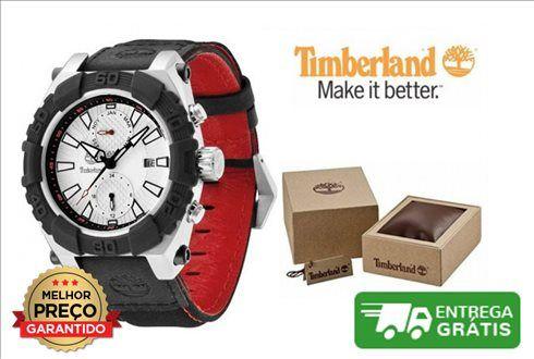 - Relógio Timberland Hookset Multifunction | Bracelete Preta / Vermelha- Caixa de aço inoxidável- Mostrador branco- Exibição da data- Diâmetro 43mm- Movimento de quartzo- Cristal mineral- Resistente à água até 10 ATM / 100 metros