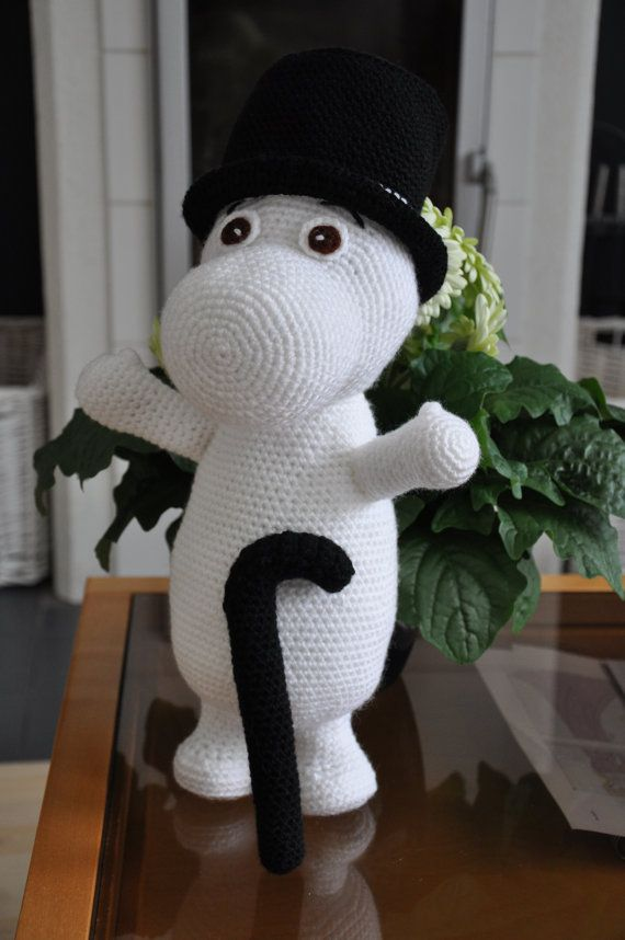 Moomin and Little My 2 PDF crochet patterns by Fjukten on Etsy, $10.20