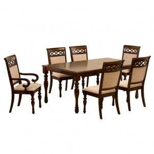 Juego de comedor santorini 4 sillas 2 sitiales cic for Juego de comedor redondo 4 sillas