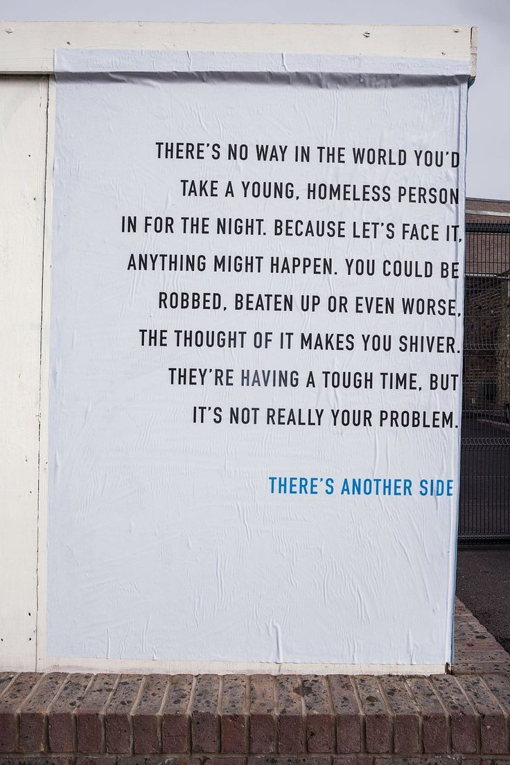 There's Another Side to the Story | Homeless Awareness Outdoor Poster Campaign | Award-winning Graphic Design | D&AD