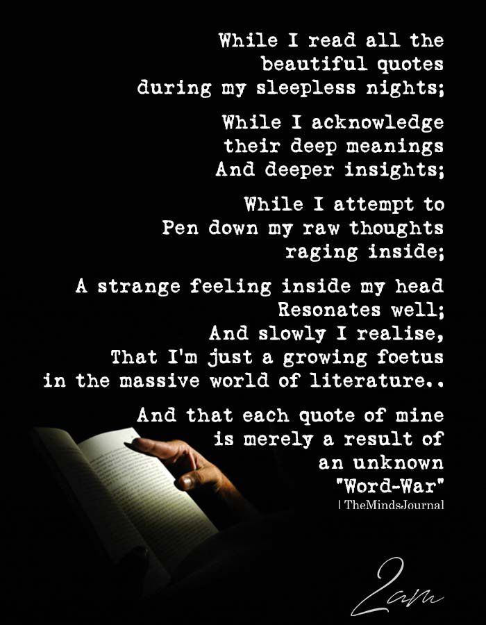 While I Read All The Beautiful Quotes During My Sleepless Nights Beautiful Quotes Sleepless Nights Quotes