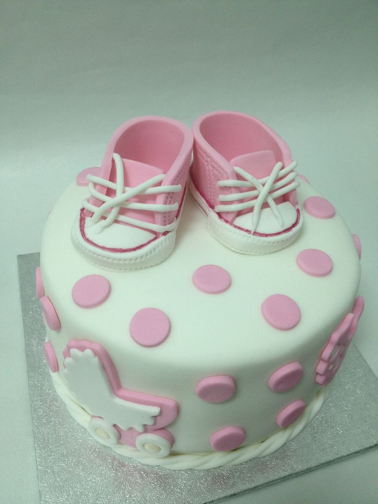 Baby girl welcome cake fondant cakes pinterest for Welcome home decorations for baby