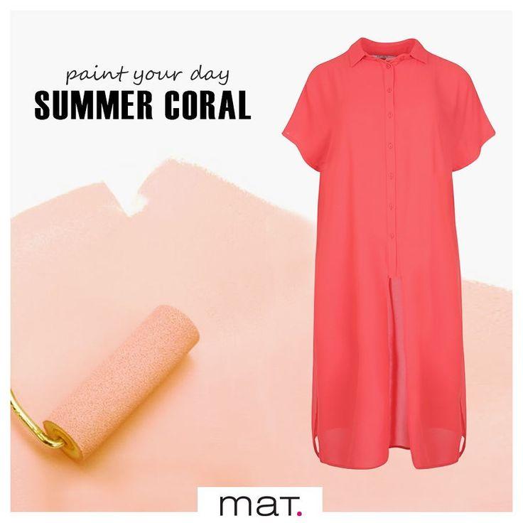 Οι καλοκαιρινές μέρες χρειάζονται χρώμα, και μάλιστα... κοραλλί! Αυτή η αέρινη ημιδιαφανής πουκαμίσα με παιχνιδιάρικα ανοίγματα στο πλάι, θα γίνει το αγαπημένο σου κοραλλί κομμάτι! Ιδανικό για τις βόλτες στα σοκάκια Ελληνικού νησιού! Ανακάλυψε την ➲ code: 671.7430 ________________________________________________________ #matfashion #ss17 #realsize #collection #summer#coral #ootd #plussizefashion #instafashion