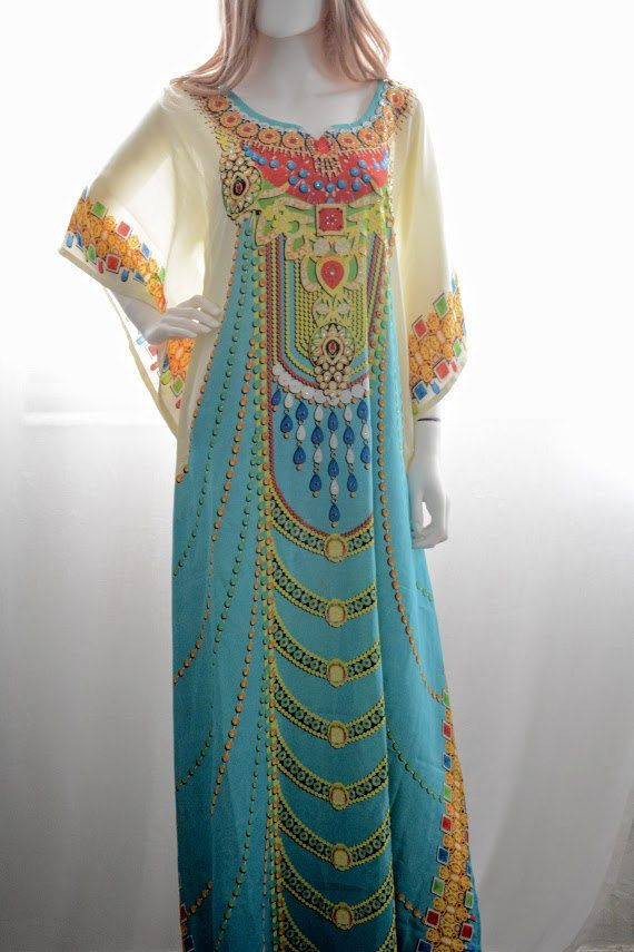 Long kaftan dress caftan dress beach kaftan boho by BaublesNBloom