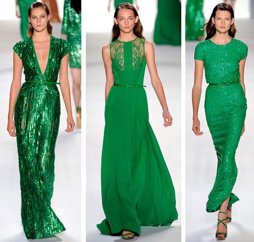 emerald green gowns. Elie Saab...I love Elie Saab