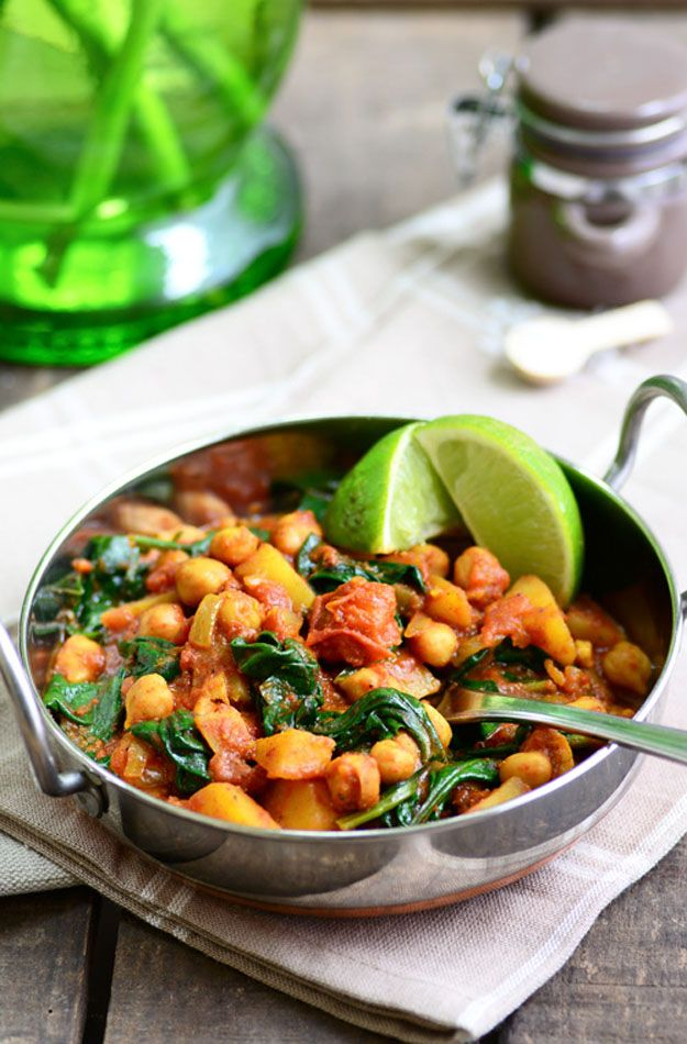 Chickpea and Spinach Curry 7