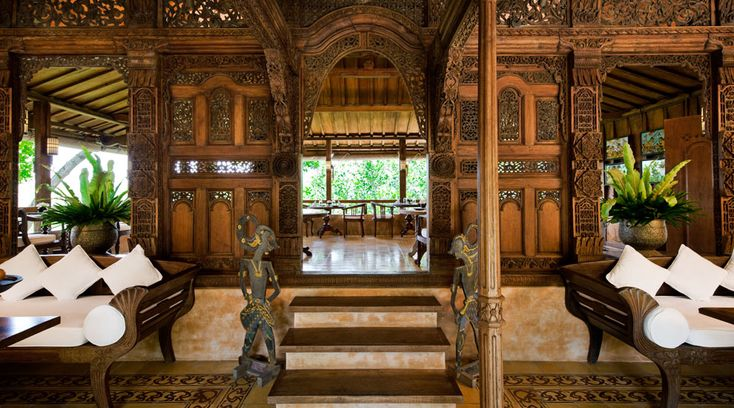 This is the Como Shambhala Estate Hotel in Bali. The architecture is gorgeous !