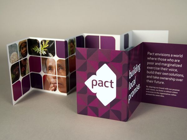 Branding system created for global NGO Pact, which operates in 26 countries doing capacity development. Designed in collaboration with Minel...