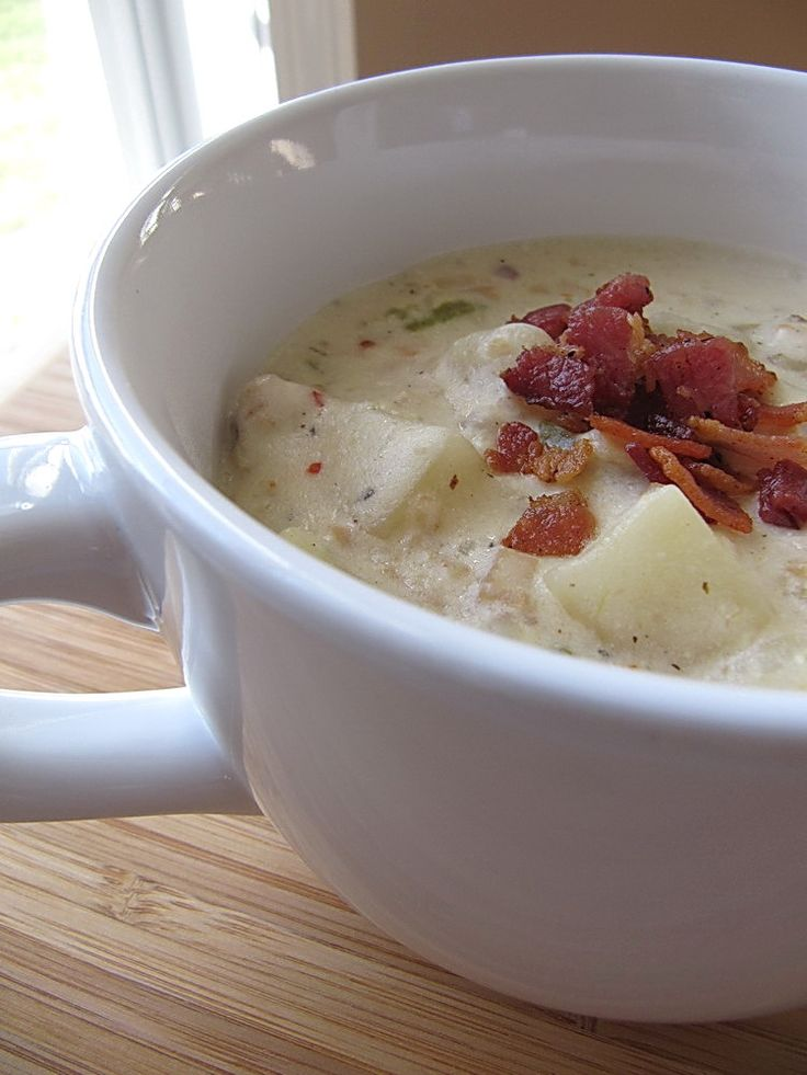 Slow Cooker New England Clam Chowder add 1/4 c butter. Northerners say tastes authentic.