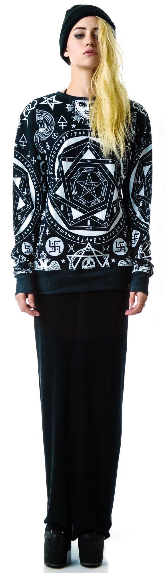 Kill Star Occult Pullover Sweatshirt   Dolls Kill