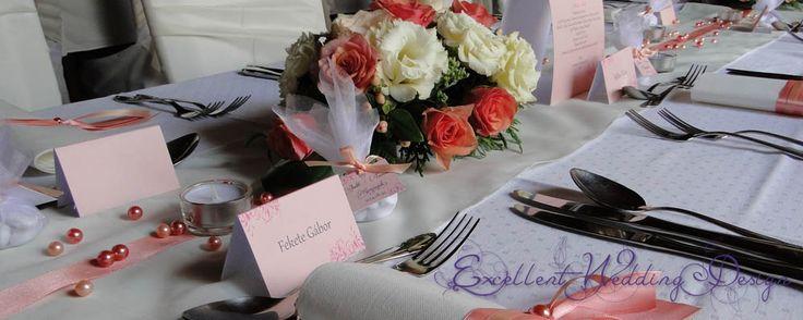 esküvői dekoráció, barack esküvői dekoráció