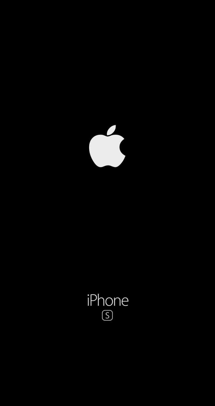 Iphone 6s Wallpaper black logo apple  fond d'écran noir