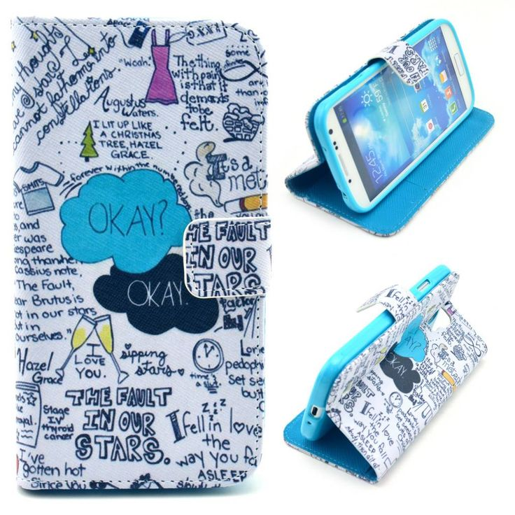 Design quotes bookcase hoesje voor Samsung Galaxy S4