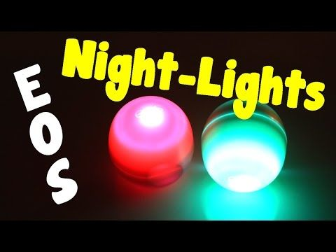 DIY EOS - How To Make A Night Light From An EOS Container - Room Decor Idea (Craft and Project Idea) - YouTube