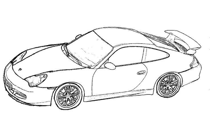 porsche car coloring pages gt3 | race car coloring pages