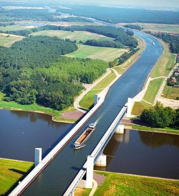 Magdeburg Germany WWII | 03. Magdeburg Water Bridge — Germany