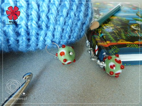 3 in 1 MAK set called Spotted Fruit; here being used to crochet the blue-white buddy cute monster