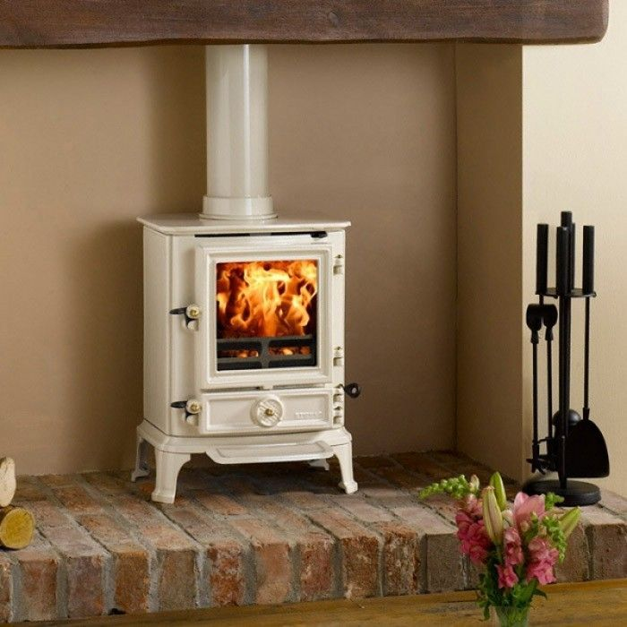 Small White Free Standing Stove Propane Vs Wood To The Right Of Doors When You Walk In Multi Fuel Stove Wood Burning Stove Wood Burner Fireplace