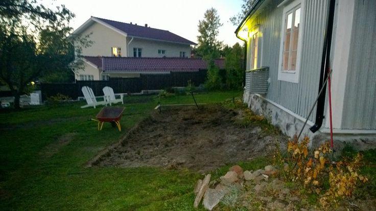 Lönntorp i Dalsvik -: Terass tidig vår 2014