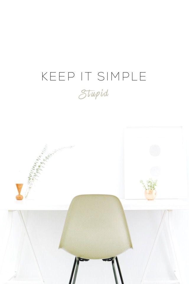 Keep it simple stupid.  #madewithover
