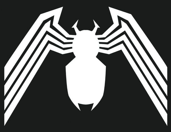 Venom symbol, in black, on my left shoulder, wrapping all the way around my arm.