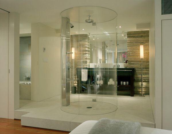 Rendkívül elegáns a körpanorámás zuhanykabin. A helyiség középpontjába állított zuhanykabin mindenki számára egyedi hatást nyújt, ugyanakkor meg kell szokni, hogy itt minden oldalra szabad a kilátás :)