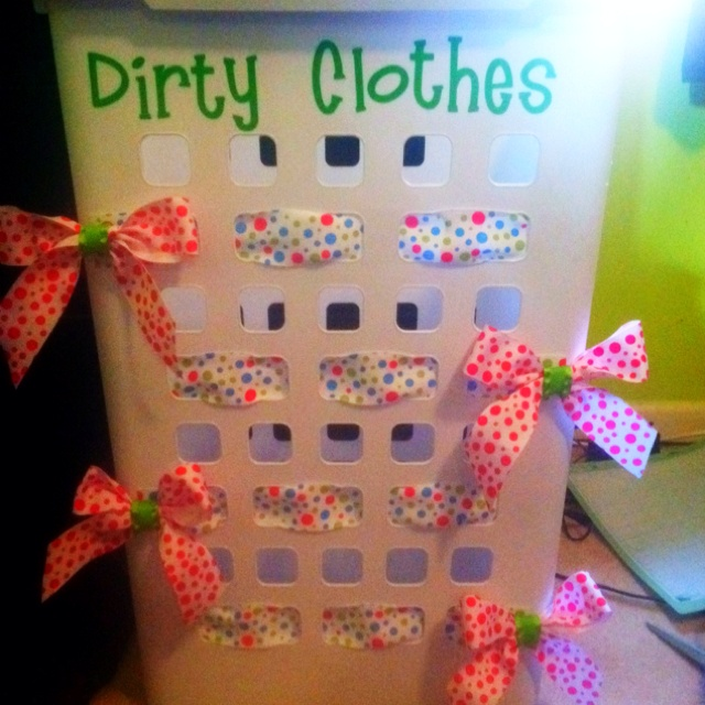 Dirty clothes hamper ) Great for college dorm  (HOPE  ~ 074128_Dorm Room Gift Basket Ideas