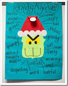 Grinch adjectives for a writing activity