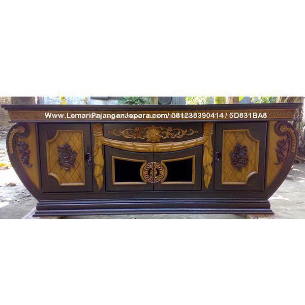 Bufet Tv Ukiran Model Perahu
