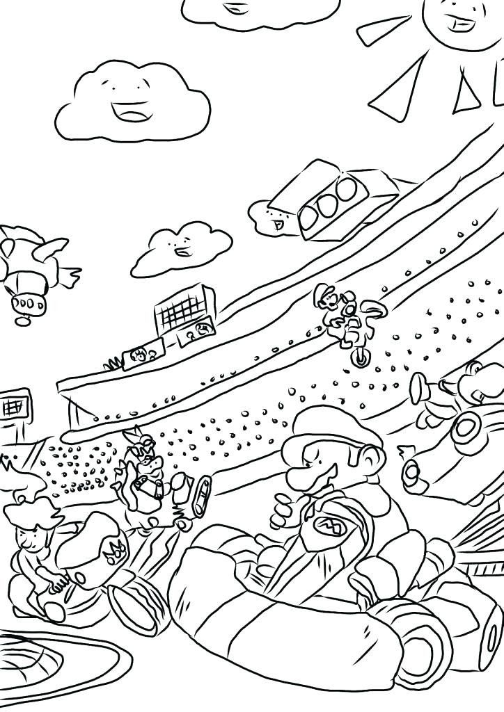Mario Kart Coloring Pages Mario Kart 7 Coloring Pages In 2020 Mario Coloring Pages Coloring Pages Minion Coloring Pages