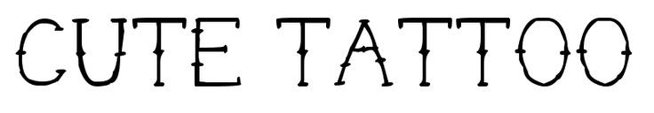 good font for finger tattoo