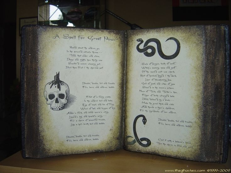 How to make a Witch's Spell Book, by Ghostess | Oh So