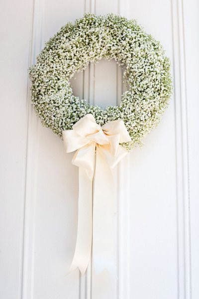 ways to use babys breath wreath
