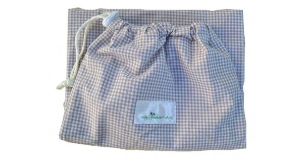 MONEY SAVER! ECO FRIENDLY! LOCALLY MADE!  WET NAPPY BAG  A waterproof, draw-string bag, which can hold at least 2 wet nappies. Useful for when you are out & about or for your day-carer to hide those wet nappies. Because the bag is reusable it saves money and is an eco-friendly alternative.