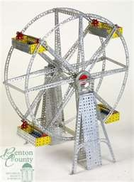 old-fashioned Erector Set (the all-metal kind, not the newer painted kind)