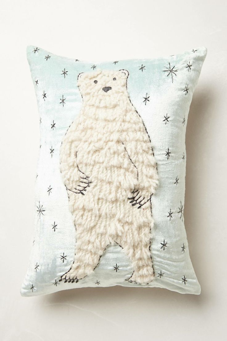 Boreal Forest Applique Pillow - anthropologie.com