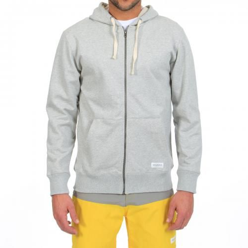 HOODED COTTON SWEATSHIRT WITH ZIP JP Zip Up hooded cotton sweatshirt with long sleeves, two front pockets, ribbed hem and cuffs, metal zip fastening, Saturdays Surf NYC label sewn on the bottom. COMPOSITION: 100% COTTON. Our model wears size L, he is 189 cm tall and weighs 86 Kg.
