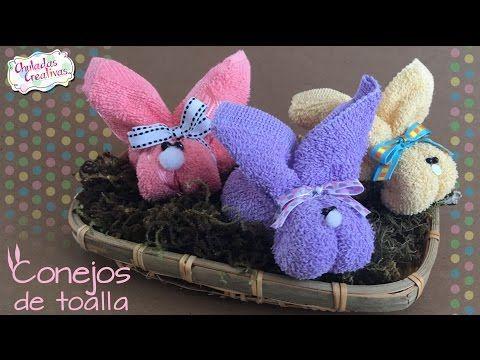 Conejo de Toalla :: Toallas DIY :: Recuerdos y Regalos de Baby Shower :: Chuladas Creativas - YouTube