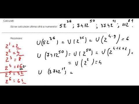 Clasa a V-a - Cap. Numere naturale - ex 9 - ultima cifra a lui 2 la o putere - YouTube