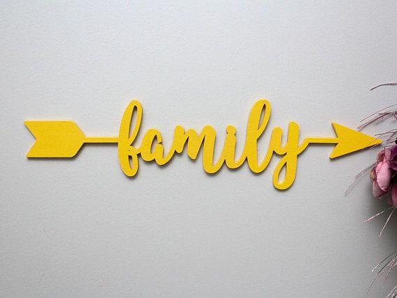 Arrow Word, Family Arrow, Wood Arrow Words, Arrow Word Art, Family ...