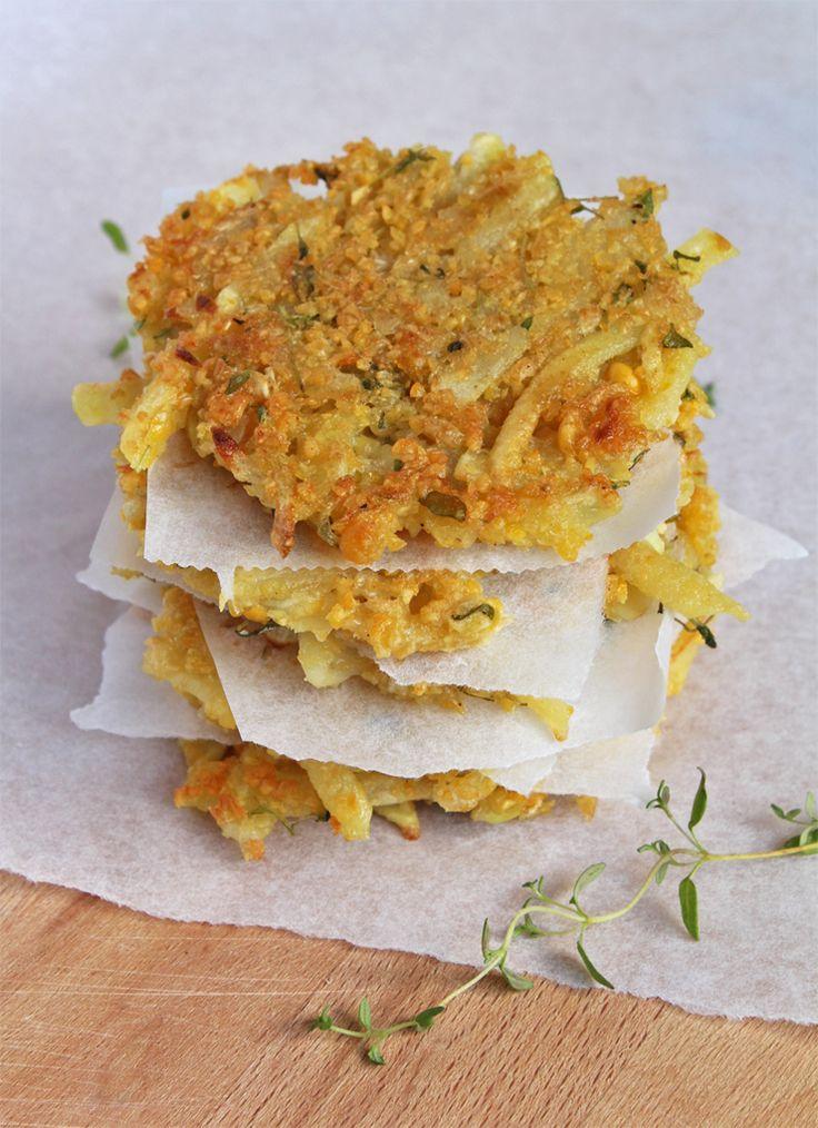 Potatis- och ärtbiffar med syrlig limesås