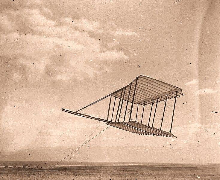 Het eerste vliegtuig van de Wright Brothers