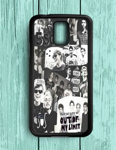 5 Second Of Summer Collage Black And White Samsung Galaxy S5   Samsung S5 Case